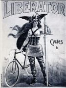 Vintage cycling poster - Liberator cycles & automobiles